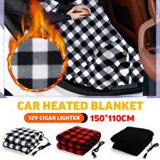12V Electric Car Heated Blanket 12V Polar Fleece Cover Travel Warm Winter