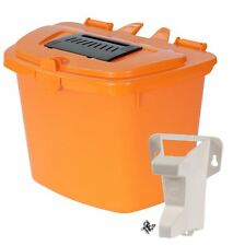 Orange Kitchen Compost Caddy Food Bin (7 Litre) & Door/Wall Mount Bracket
