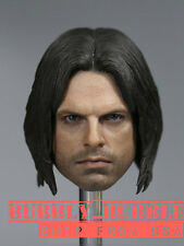 1/6 Winter Soldier Bucky Barnes Head Sculpt For Hot Toys PHICEN Male Figure USA
