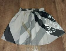 Genuine Girls Burberry Check Black Cream Cotton Skirt Age 3 Years Needs Hemming