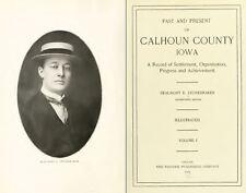 1915 CALHOUN County Iowa IA, History and Genealogy Ancestry Family Tree DVD B38