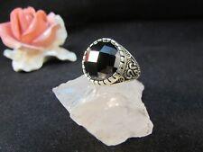 Silberring Männerring Siegelring Ring Sterlingsilber 925 Handarbeit Onyx Gr 62