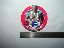 1996 New York City Marathon Bill Clinton/Gore Presidential Pinback