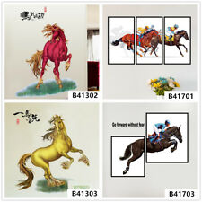 3D Horse Racing Home Bedroom Decor Removable Wall Stickers Decals Decoration