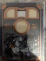 Gary Sanchez NY Yankees 2019 Topps Museum Collection QUAD RELIC 26/75 GAME USED