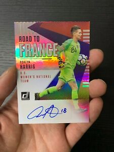 18-19 PANINI DONRUSS SOCCER ROAD TO FRANCE ASHLYN HARRIS AUTO REF USA TEAM RARE