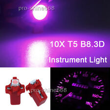 10X T5 B8.3D Pink Purple Dashboard Instrument Speed LED Light Bulb Lamp Replace