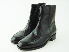 FLORSHEIM Essex Black Leather Ankle Boots - Side Zip - Men's Size 7 -  NEW