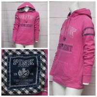 PINK Victoria's Secret PINK FOR PRESIDENT Bling Pullover MEDIUM Hoodie Pink