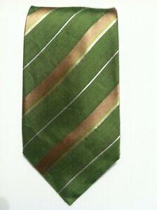"NWT BANANA REPUBLIC MENS NEW GREEN 65%SILK 35%LINEN WIDE NECKTIE WIDTH: 3 3/4"""