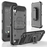 Hybrid Shockproof Armor Holster Case Stand Cover Belt Clip Fr HTC Desire 530 555