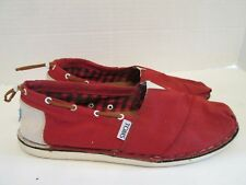 TOMS Red Boat Deck Casual Slip-On Loafers Flats Women's US 9 - $64.00