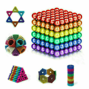 3D Magnets Magic Balls Beads 3/5mm Puzzle Ball Sphere Magnetic Toys-6 Colors