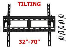 "Flat Screen TV Bracket Tilt LED LCD TV Wall Mount 32 40 42 47 50 52 55 60 65 70"""