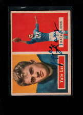 1957 TOPPS #68 YALE LARY AUTHENTIC ON CARD AUTOGRAPH SIGNATURE AX1950