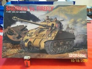 "Started/Painted 1/35 w/PHOTOETCH "" SHERMAN Vc FIREFLY "" WW2 BRITISH TANK  # 6031"