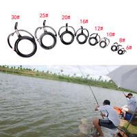 8x Kit de réparation de canne à pêche guides conseils ligne anneaux