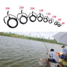 8X Kit de réparation ligne de canne à pêche réparation d'anneau