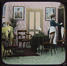 Glass Magic Lantern Slide CHRISTMAS EVE NO12 C1910 EDWARDIAN STORY