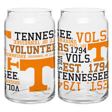 (1) Tennessee Volunteers 16oz NCAA Fan Spirit Grafitti Drinking Glass Can
