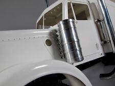 Pair Aluminum Air Cleaner Intake Tank for Tamiya 1/14 Semi King Grand Hauler