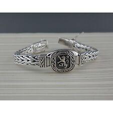 Sterling Silver Scottish Lion Rampant Weave Bracelet by Keith Jack Celtic Clasp