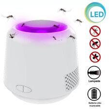 Lampada Zanzariera Elettrica UV LED Lume Tavol Comodino Antizanzare Batteria USB