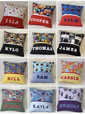 CHILD'S PERSONALISED  CHARACTER PRINT CUSHION / KINDY COVERS - Various Designs -