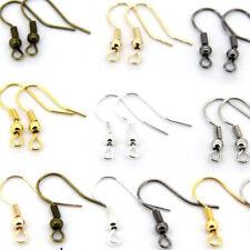 100PCS DIY JEWELRY Making Findings Earring Hook Coil Ear Wire Wholesale UK