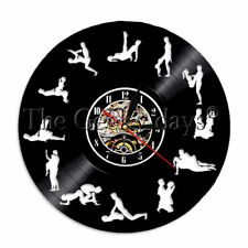 24 Hours Sex Position Wall Clock Sexual Kama Sutra Vinyl Record Wall Clock Watch