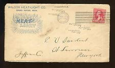 US illustrated advertising cover (Heat-Light) 1893 Grand Rapids, Mich to NYC