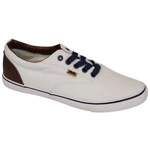 Mens Pumps Rock & Religion Trainers Striped Spotted Denim Shoes Plimsolls Canvas