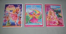 DVD LOT of 3 BARBIE - 12 Dancing Princesses, Magic of the Rainbow, Fairytopia