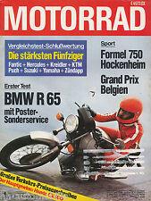 Motorrad 15 78 BMW R 65 Low Rider Suzuki GS 1000 EC RD 50 Zündapp KS 50 TT 1978