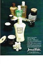PUBLICITE  1969   JEAN D'AVEZE  cosmétiques ligne de JOUVENCE