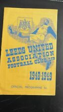 More details for 1948  leeds v southampton 2nd division football programme