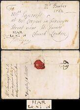 Norfolk PH 1762 Lettersheet fine HAR/LESTON and Bishop Mark FREE
