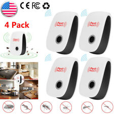 4x Ultrasonic Pest Repeller Bug Mice Rat Spider Insect Repellent Electric Plug