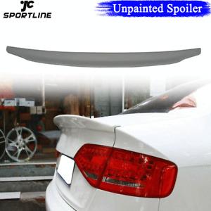 Unpainted Rear Trunk Wing Boot Spoiler Lip Fit for Audi A4 B8 B9 Sedan 2009-2012