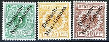 Germany 1897 Offices in New Guinea Set of 3 MH Scott's 2 5 & 6