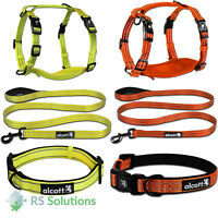 Alcott Reflective High Visibility Dog Leash Lead / Collar / Harness Neon Colours