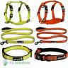 Alcott Reflective High Visibility Dog Leash Lead / Collar / Harness Neon Colours
