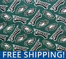 "Philadelphia Eagles NFL Fleece Fabric - 60"" Wide - Style PHI-6234 Free Shipping"