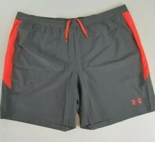 Under Armour Heatgear Gray/Coral Wicking Athletic Running Shorts Mens 2XL NWT