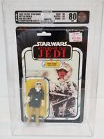 1983 Palitoy Star Wars ROTJ 65 back HOTH HAN SOLO AFA 80 Stormtrooper Blaster