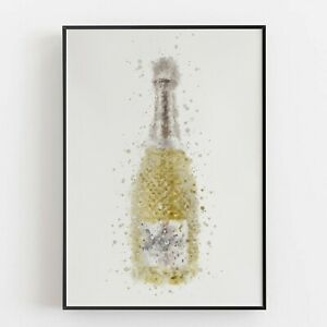 P0105 | Prosecco Bottle | Wall Art Print | Poster | Liquor | Bar | Restaurant