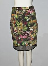 MARIO SERRANI Italy Size 2 Women's Multi-Color Floral Fully-Lined Skirt