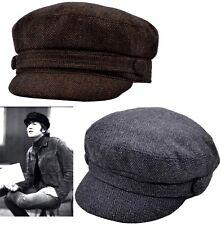 ed07ff214d4 Fiddler Breton Cap Hat Herringbone Greek Fisherman Sailor Barge Mens Ladies  Kids