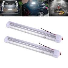 2x 12V LED Innenleuchte 72-LEDs Streifen Leuchte Auto Stablampe Lichtleiste Weiß