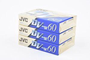NEW 3X JVC Mini DV DIGITAL VIDEO CASEETTES (3X DVC60)